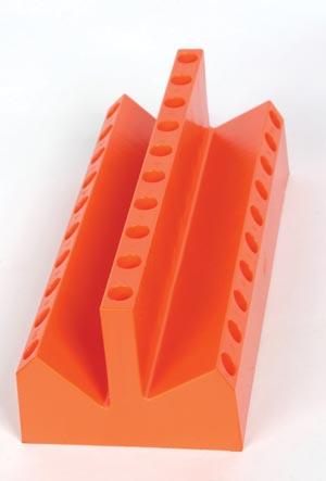 AcuGuard FH-1510 10 Place ESR Stand - Plastic Orange (10 places straight 20 places tilted)