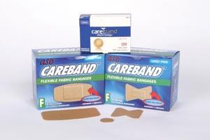 ASO CBD4022 Fabric Spot Bandage 7/8 Latex Free (LF) 100/bx 12 bx/cs