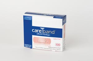 "ASO CBD1321 Reinforced Waterproof Bandage Tan 1 x 3"" Latex Free (LF) 100/bx 12 bx/cs"
