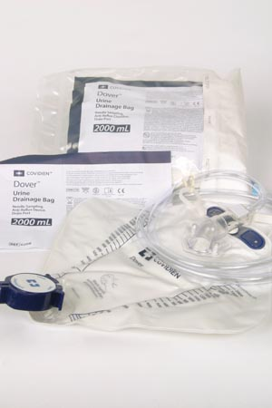 Cardinal Health 6300 Drain Bag 2000mL Mono-Flo Anti-Reflux Device Polybag Package 20/cs