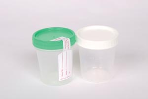 Specimen Container, 4 oz, Sterile, Green Cap, Integrity Seal, Individually Wrapped, 100/cs