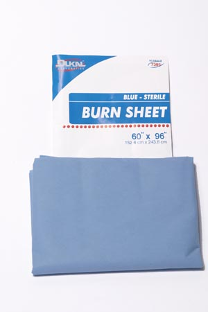 "Dukal 7305 Burn Sheet SMS Blue 60 x 96"" 12/cs"