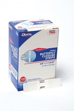 Dukal 7600 Butterfly Wound Closure Strip Medium 100/bx 24 bx/cs