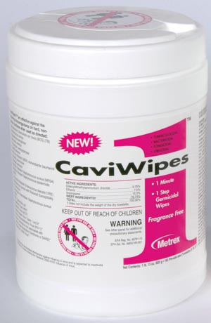 "CaviWipes1, 6"" x 6-3/4"", 160 ct/can"