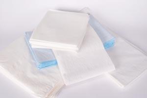 """Drape Sheet, Tissue/ Poly, 30"""" x 48"""", White, 100/cs"""