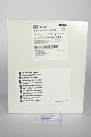 Saf-T Holder, Male Luer Lock Adaptor, 50/bx, 4 bx/cs