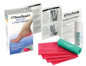 Theraband 27400 First Step to Foot Relief Retail Packaged Each Includes Foot Roller Red Resistance Band & Biofreeze 3 oz Roll-On Accompanied by Use & Safety Instructions 6 ea/cs (HY27400 022930)