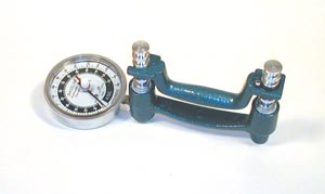 Fabrication Enterprises 12-0246 Baseline ER Hires Large Head Hydraulic Hand Dynamometer 300 lb  (FE120246 060246)