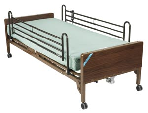 DeVilbiss 15030BV-FR Ultra Light Plus Semi Electric Bed Full Length Side Rails