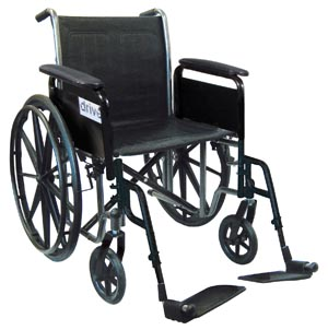 DeVilbiss SSP218FA-SF Wheelchair 18 Fixed Arm & Swing Away Footrest
