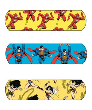 "Dukal 10790 Justice League Adhesive Bandage Superwoman Wonderwoman & Flash  3/4 x 3"" 100/bx 12 bx/cs"
