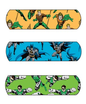 "Dukal 10791 Justice League Adhesive Bandage Batman Green Lantern & Aquaman  3/4 x 3"" 100/bx 12 bx/cs"