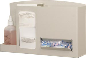 Bowman SS001-0212 Eye & Ear Safety Station Holds Two Small Boxes of Eye Cleaning Wipes One Bottle of Lens Cleaning Solution & Ear Plugs in Bulk Quantity Keyholes For Wall Mounting
