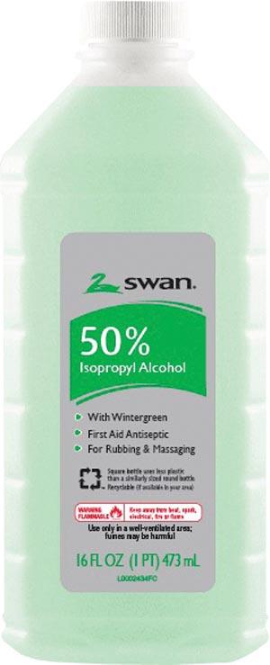 Cumberland 1000032207 Isopropyl Alcohol 50% Wintergreen No Lan 16 oz 12/cs (21143)