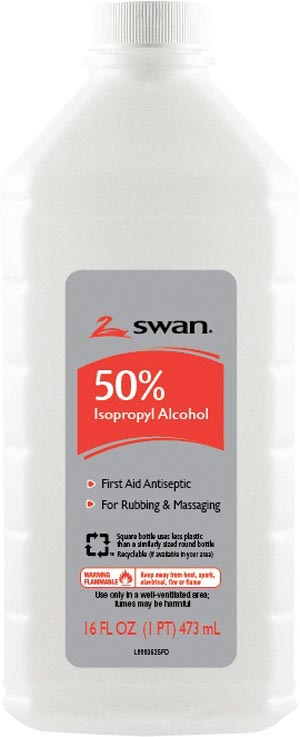 Cumberland 1000032295 Isopropyl Rubbing Alcohol 50% ISO 16 oz 12/cs (86443)