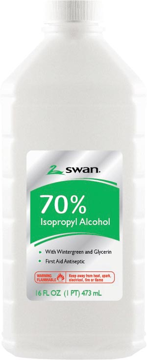 Cumberland 1000032409 Wintergreen Isopropyl Rubbing Alcohol 70% IPA 16 oz 12/cs  (84543) (Item is considered HAZMAT and cannot ship via Air)