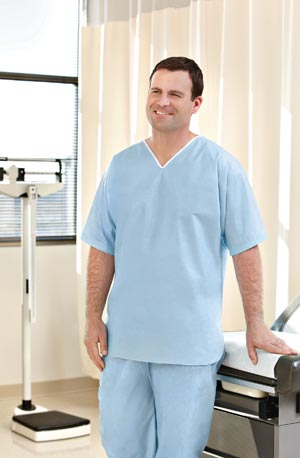 Graham Medical 62486 Pants SMS Medium Light Blue 30/cs