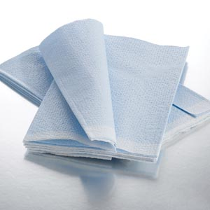 "Graham Medical 317 Fanfold Drape Sheet Tissue/ Poly/ Tissue Blue 40 x 48"" 50/cs"