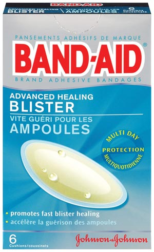 "J&J 4488 Advanced Healing Blister Adhesive Bandages 1 4/25 x 2 4/25""  6/bx 24/cs"
