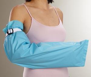 "Albahealth 54002 Arm Fluid-Resistant Garment 9 x 36"" White/ Blue Latex Free (LF) 24/cs"