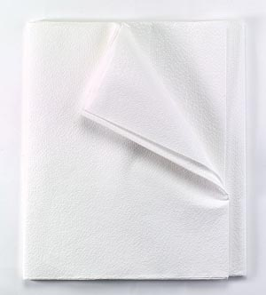 "Equipment Drape Sheet/ Stretcher Sheet, Tissue/ Poly, 60"" x 96"", White, 25/cs"