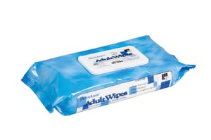 "IHC 80-504 Wipes Incontinence Adult Spunlace Low Profile Tub 8 x 12"" 64 wipes/pk 12 pk/cs"