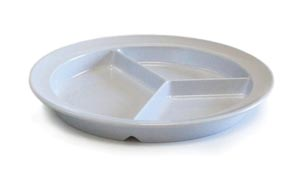 B&L A-PSD/CT Partitioned Dinner Plate 8 3/4 Dia White 48/ctn