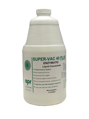 EPR Industries 138 Super-Vac 40 PLUS Liquid ½ Gal Bottle 6/cs