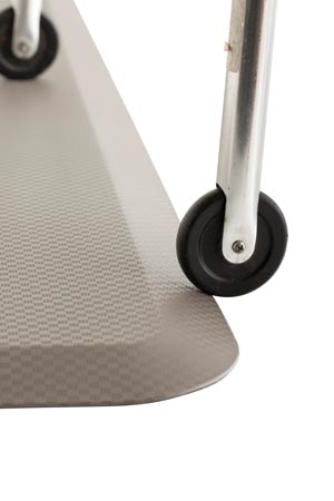 "Arrowhead P-107350-24-05 Flat Mat Ultra Low-Profile Woven Pattern Cool Grey 24 x 70"" x 0.7"""