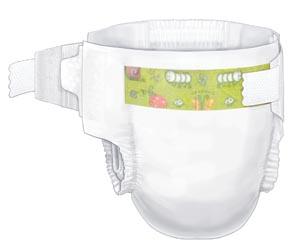 Cardinal Health 80018A Baby Diaper Size 2 Small/ Medium (12-18 lbs) 34/bg 8 bg/cs