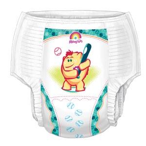 Cardinal Health 70063BA Training Pants Boys Medium 2T/3T (18-34 lbs) 26/bg 4 bg/cs