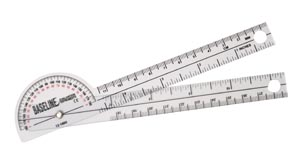 Fabrication Enterprises 12-1005 Baseline 180° Clear Plastic Pocket Goniometer 6 (FE121005 060001)