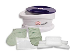 Fabrication Enterprises 11-1600 Paraffin Bath with 6 lb Unscented Paraffin Plus Liners Mitt & Bootie  (FE111600 030266)