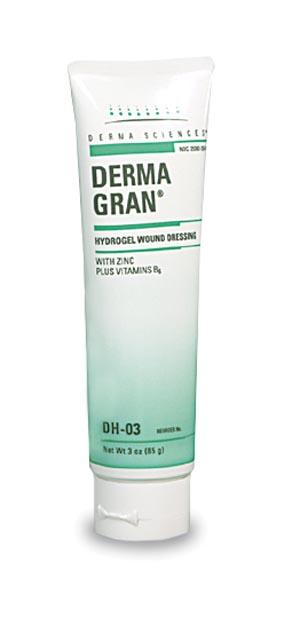 Derma Sciences DH03 Amorphous Hydrogel 3 oz Tube 12/cs