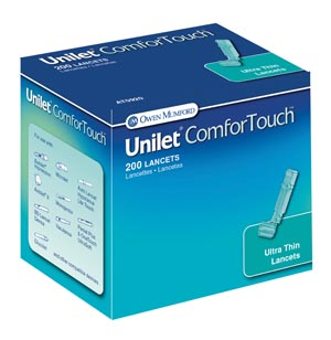 Unilet ComforTouch Lancet, 28G, 200/bx