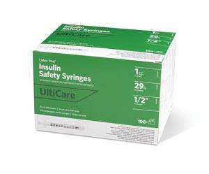 """Insulin Syringe, Fixed Needle, 1cc, 29G x -1/2"""", 100/bx"""