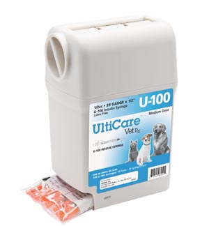 "UltiGuard U-100 Syringe Dispenser, 29G x -1/2"", 1/2cc, 100/bx"