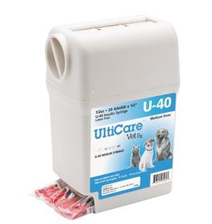 "UltiGuard U-40 Syringe Dispenser, 29G x -1/2"", 1/2cc, 100/bx"