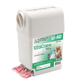 "UltiGuard U-40 Syringe Dispenser, 29G x -1/2"", 1cc, 100/bx"