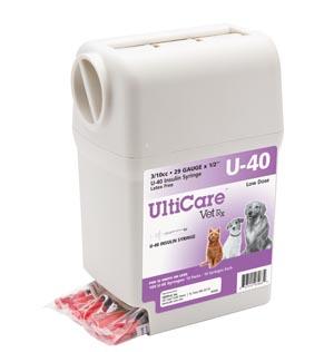 "UltiGuard U-40 Syringe Dispenser, 29G x -1/2"", 3/10cc, 100/bx"