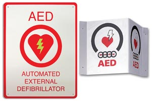 SIGN WALL AED PLUS FLAT 8.5X11