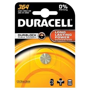 Battery, Silver Oxide, Size 364, 1.5V, 6/cs (UPC# 66272)
