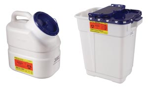BD 305028 Collector Pharmaceutical 17 Gallon Hinge Top 5/cs