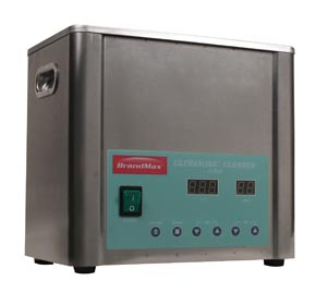 BrandMax U-5LH Ultrasonic Cleaner with Heat 5 Liter Capacity: 5L/1.32 Gal Includes Stainless Steel Hanging Basket