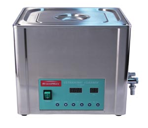 BrandMax U-20LH Ultrasonic Cleaner with Heat 20 Liter Capacity: 20L/5.28 Gal Includes Stainless Steel Hanging Basket