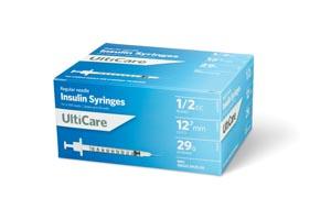 "Insulin Syringe, 1/2cc, 29G x -1/2"", 100/bx"