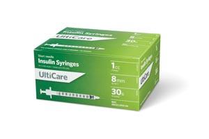 "Insulin Syringe, 1cc, 30G x 5/16"", 100/bx"