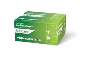 "Insulin Syringe, 1cc, 28G x -1/2"", 100/bx"