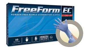 Microflex FFE-775-L Exam Gloves Nitrile Extended Cuff PF Latex-Free Textured Fingers Blue Large 50/bx; 10 bx/cs