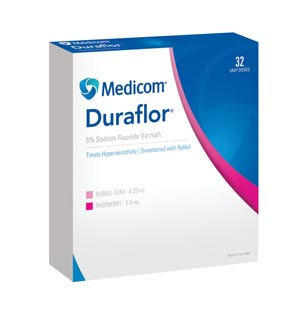 Sodium Fluoride Varnish, Raspberry, 0.4mL Unit Dose, 32/bx